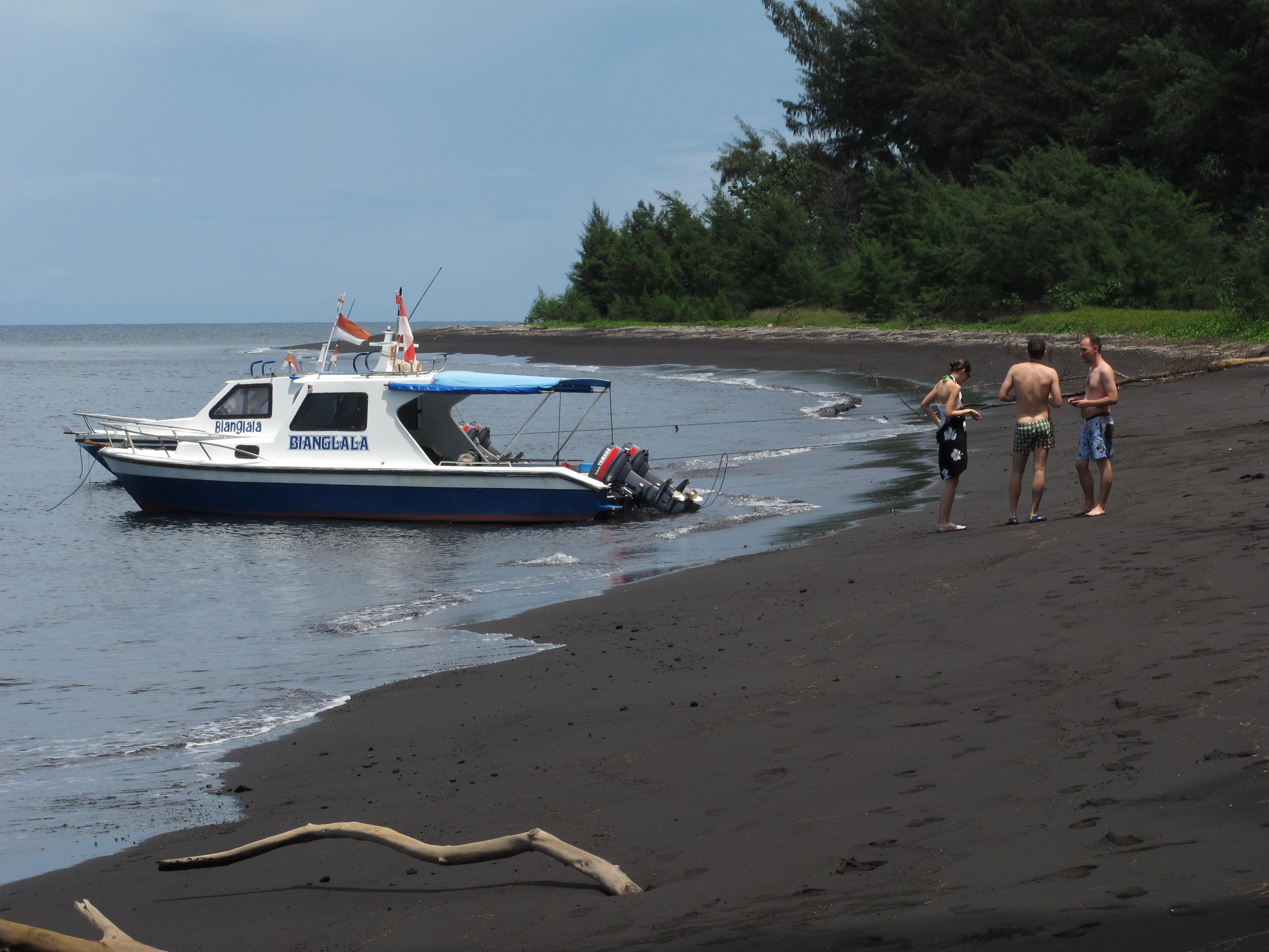 Krakatau fekete homokja