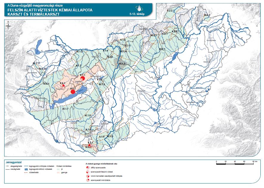 Felszín alatti víztestek kémiai állapota (karszt és termálkarszt)