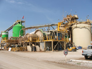 Gold processing plant using cyanidation technology