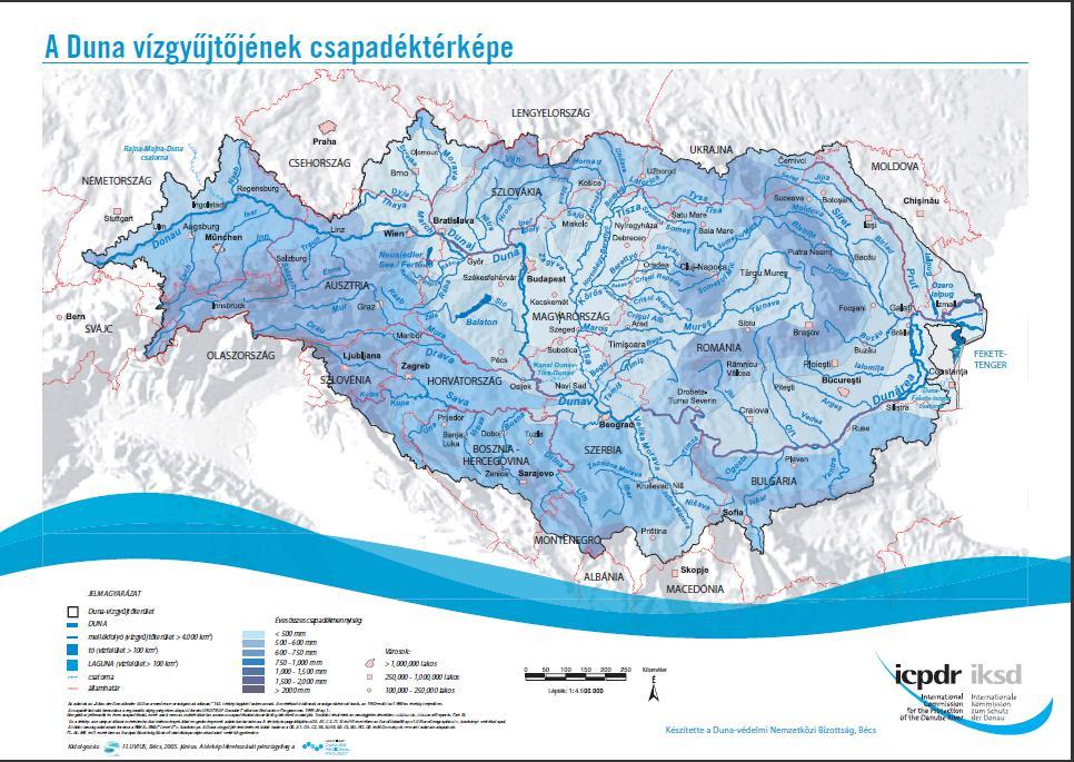 Dunavízgyűjtő csapadéktérképe