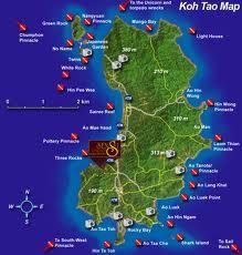 Koh Tao on map
