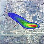 Légi fotóra helyezett szennyezőanyag csóva