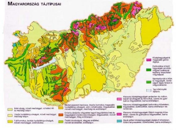 Magyarország tájtípusai