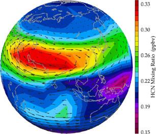 HCN a Föld légkörében
