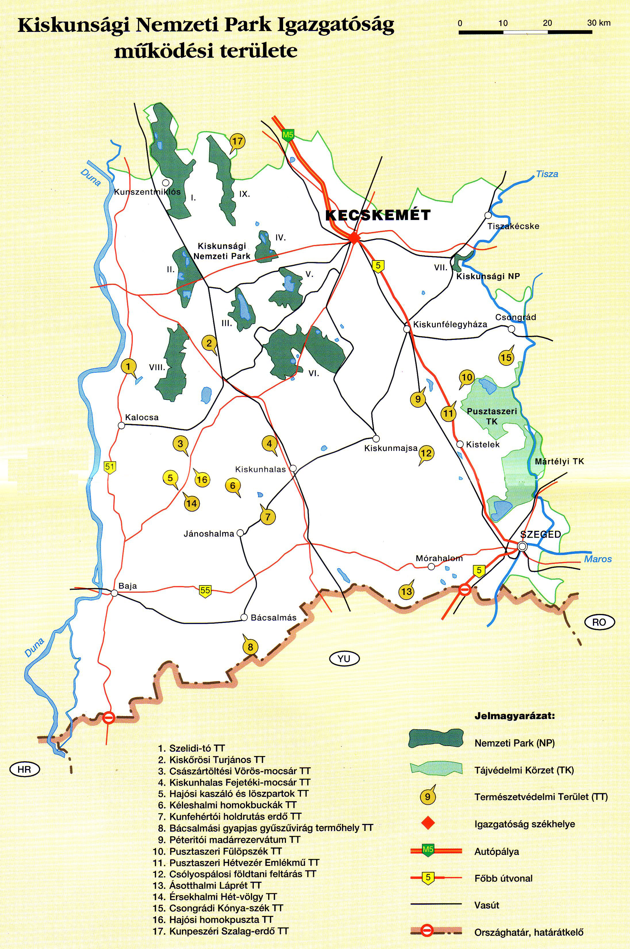 Kiskunsági Nemzeti Park térképen