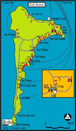 Koh Samet térképen