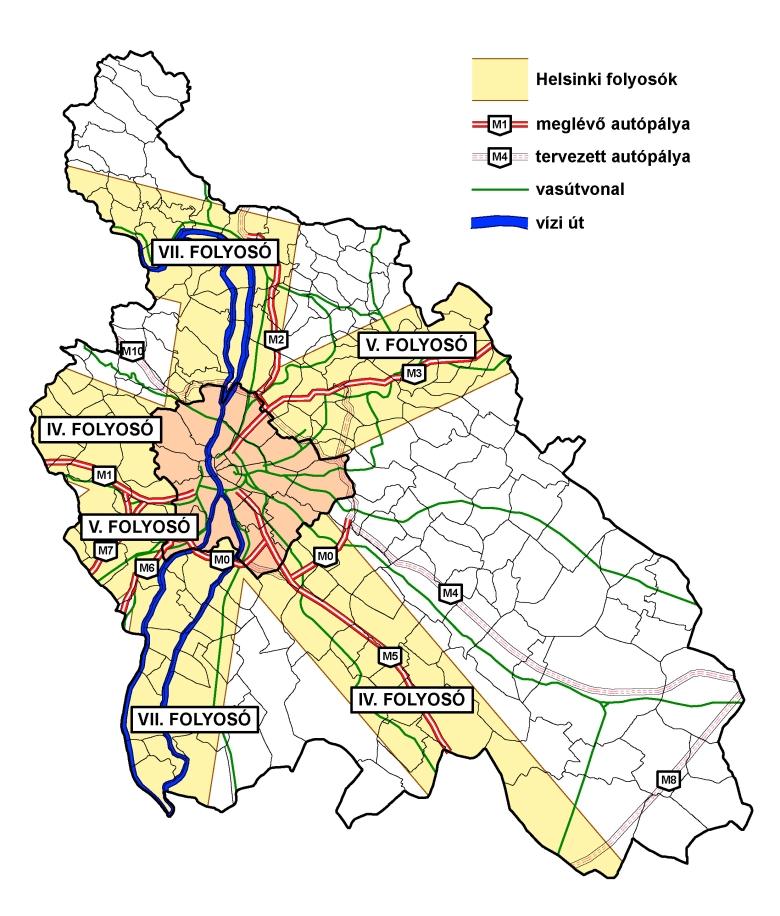 Útak Közép-magyarországon
