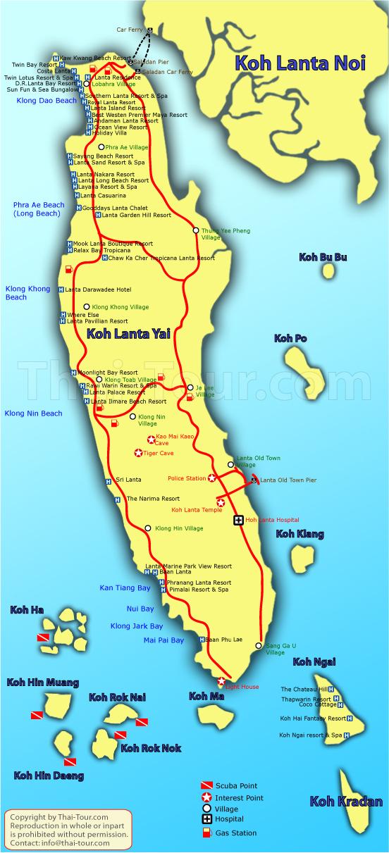 Koh Lanta és a környező pici szigetek