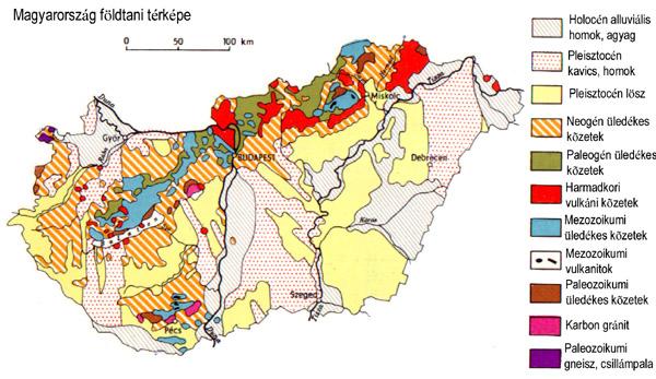 Magyarország földtani térképe