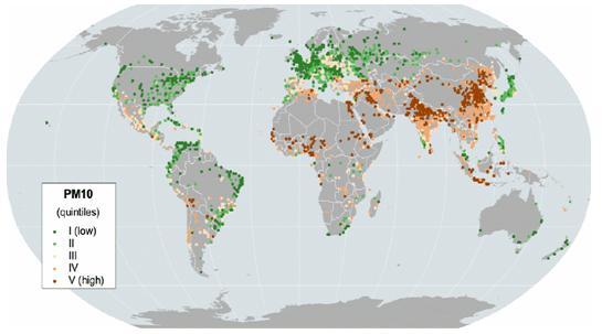 Porszennyezettség a világon