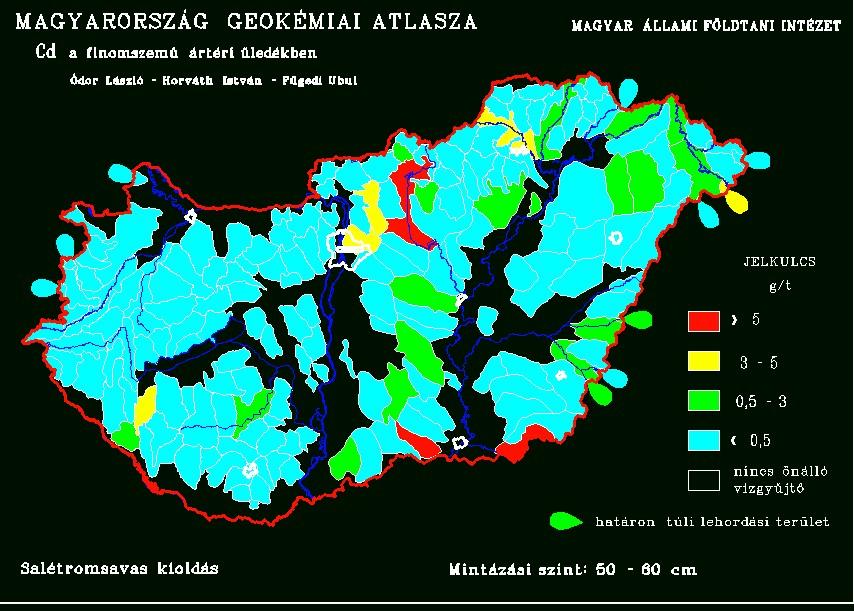 Kadmium háttéréték Magyarország talajaiban