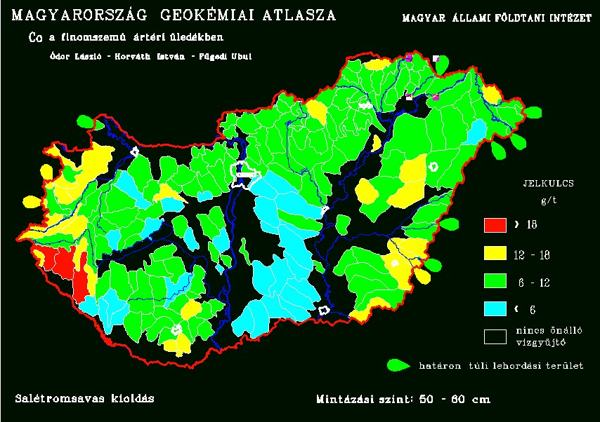 Kobalt természetes koncentrációja Magyarország talajaiban
