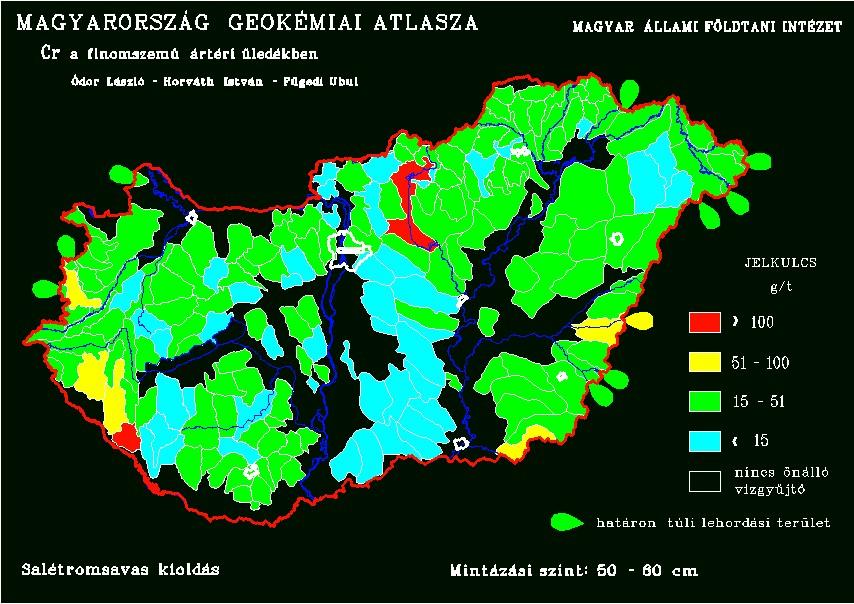 Króm természetes koncentrációja Magyarország talajaiban