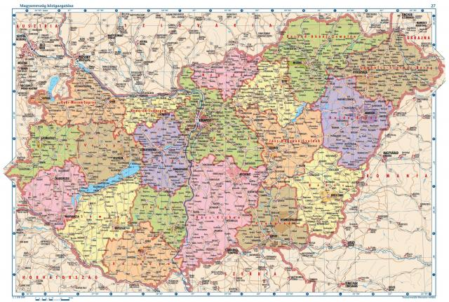 Hungary on map