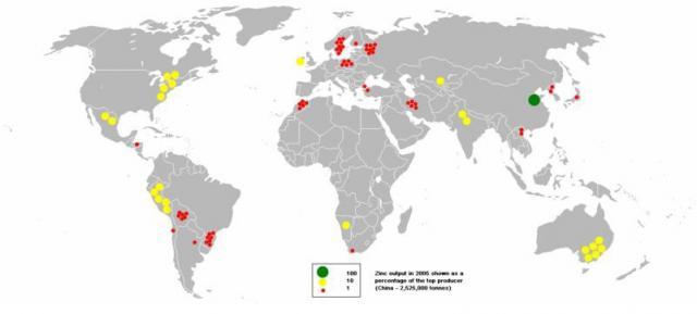 Zinc production on Earth
