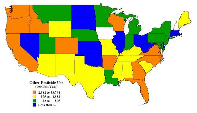 Egyéb peszticid, USA, 2002