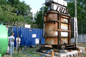 Remediation of the contaminated soil at a transformer station