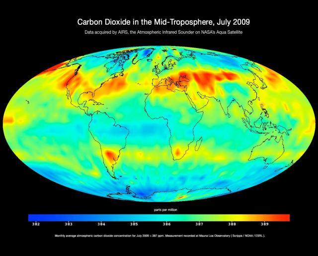 Széndioxid szennyezés a Földön