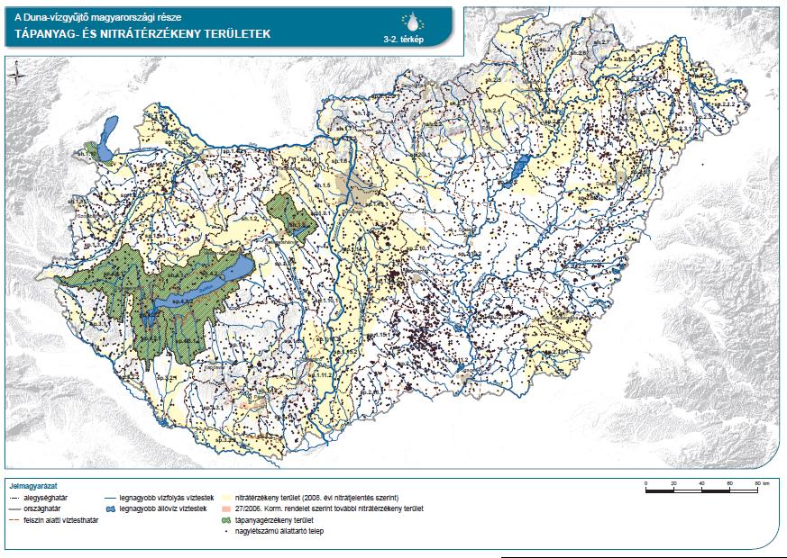Tápanyag- és nitrátérzékeny területek