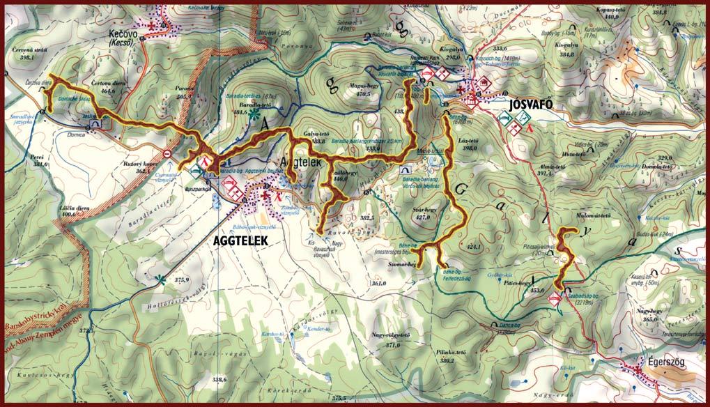 Az Aggteleki Cseppkőbarlang térképe