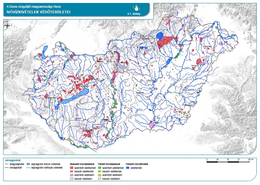 Ivóvízkivételek védőterületei