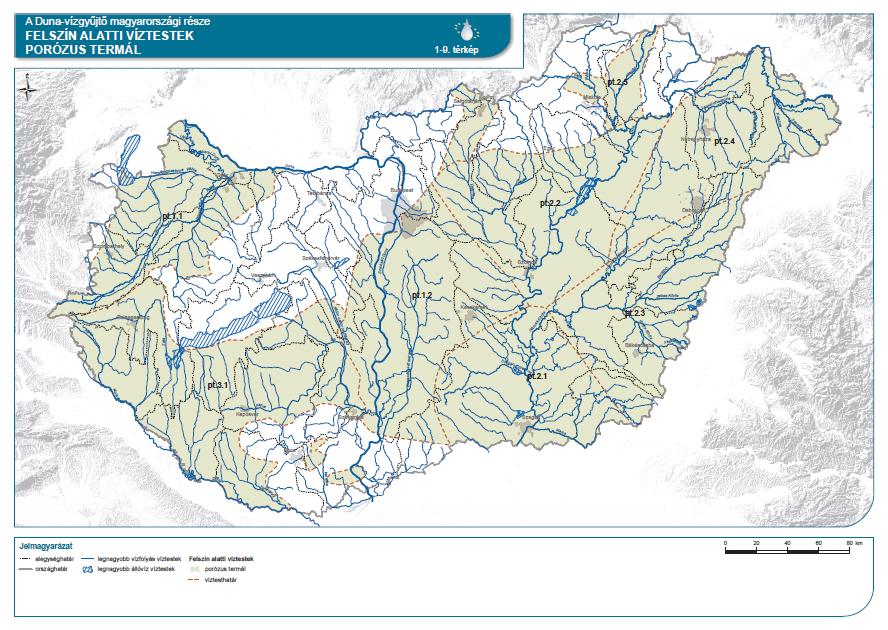 Porózus termál felszín alatti víztestek a Duna vízgyűjtője Magyarországi részén